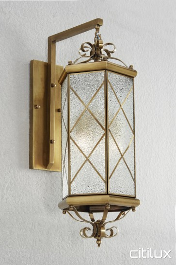 Merrylands Classic Outdoor Brass Wall Light Elegant Range Citilux