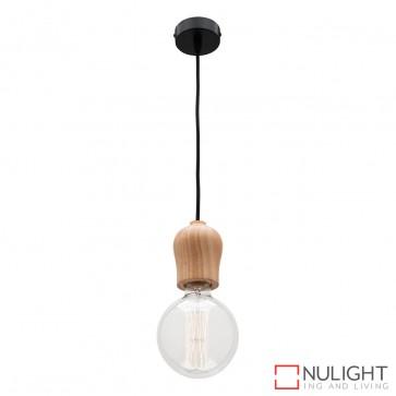 Polly 1 Light Pendant Natural Timber MEC