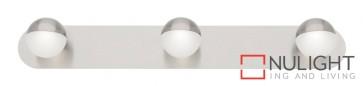 Lexi 3 Light Led Wall Light Brushed Chrome MEC