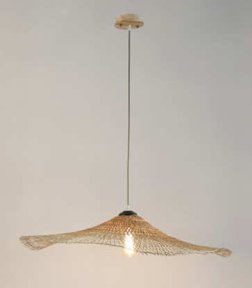 Warabi Natural Timber Pendant Light in Natural Colour Citilux