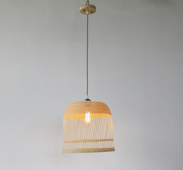 Ina Exclusive Woven Natural Timber Basket Pendant Light Citilux