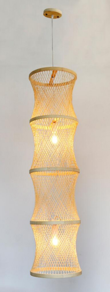 Mitaka Stunning Fishnet  Pendant Light in Natural Beige Colour Citilux