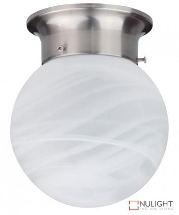 15Cm Alabaster Ball Diy Brushed Chrome ORI