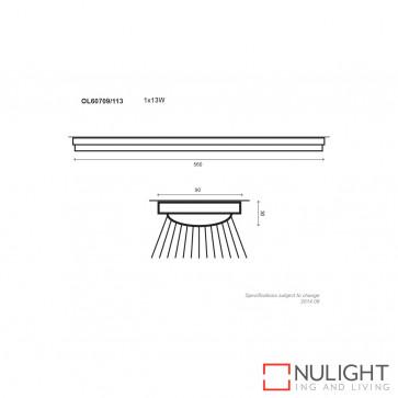 Wave T5 Single Slimline Fluorescent Silver 13W ORI