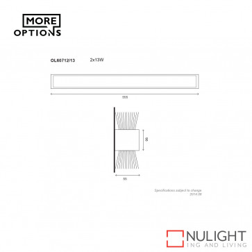 T5 Up/down Slimline Fluorescent 21W ORI