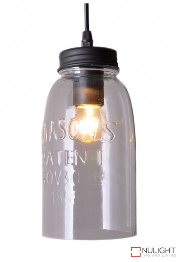 Mason Jar Pendant Clear Glass ORI