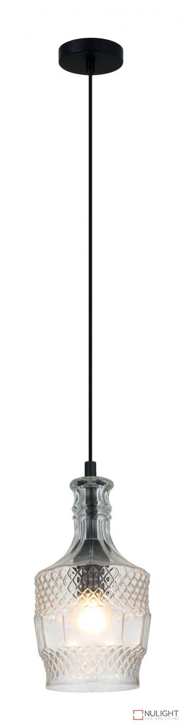Decant.3 Single Pendant Clear Glass ORI