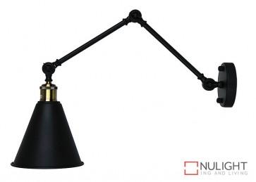Roxbury Adjustable Wall Light Matt Black ORI