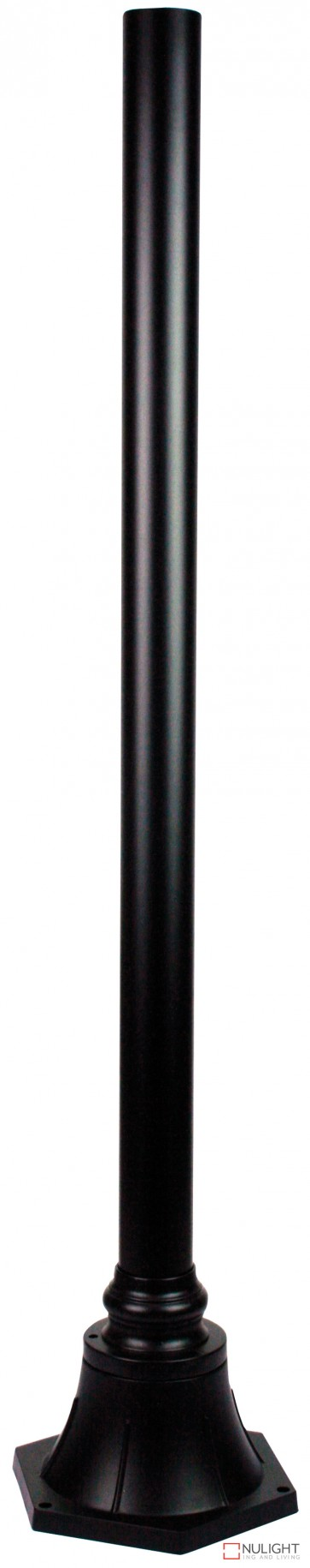 Plumb Post And Flange H1000Mm Black ORI