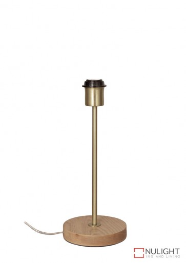 Fino Table Lamp Base Teak And Brass ORI