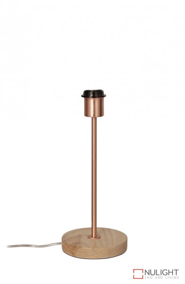 Fino Table Lamp Base Teak And Copper ORI