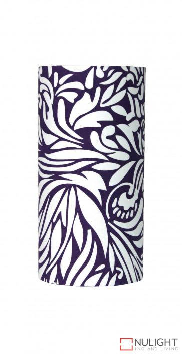 E27 Purple Floral pattern cylinder  shade ORI