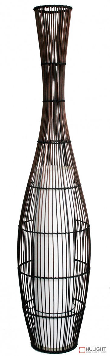 Pekan Bamboo Floor Lamp 161Cm White Tc Shade ORI