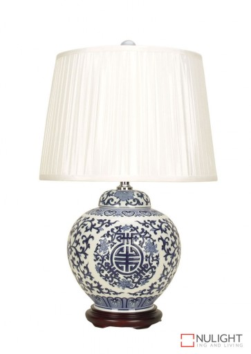 Qing Chinese Ceramic Table Lamp With Shade ORI