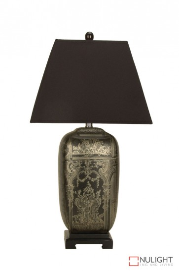 Wenling Chinese Ceramic Table Lamp With Shade ORI