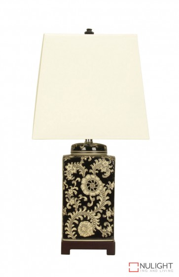 Shan Chinese Ceramic Table Lamp With Shade ORI