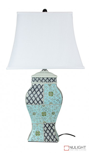 Fenfang Patchwork Ceramic Table Lamp With Shade ORI