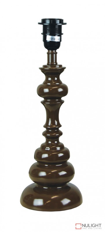 Brae Table Lamp Base Only Gloss Coffee ORI