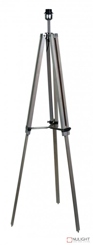 Galileo Tripod F-Lamp Base White Wash - Br.Chr ORI