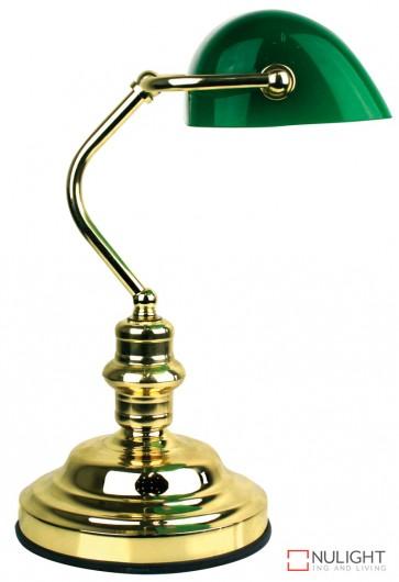 Bankers Lamp Touch Brass - Dark Green ORI