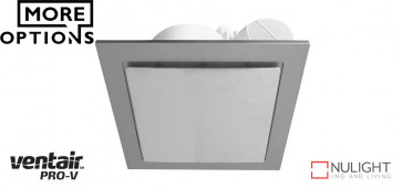 AIRBUS 250 - 250mm Premium Quality Side Ducted Exhaust Fan - Extra Low Profile - Square - Silver VTA