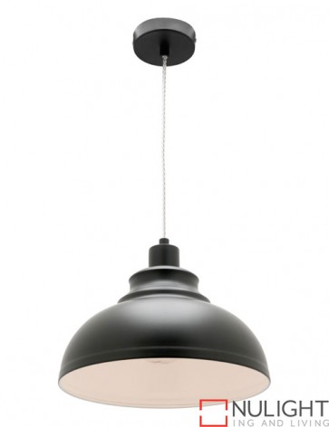 Risto 1 Light Pendant Black COU