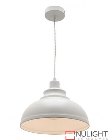 Risto 1 Light Pendant White COU