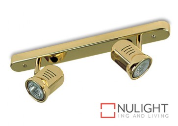 Spot Halogen Double Bar Switch Brass Gu ASU