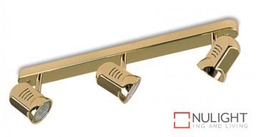 Spot Halogen Triple Bar Brass Gu ASU