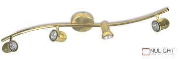 Spot Halogn Four Wavebar Brass ASU