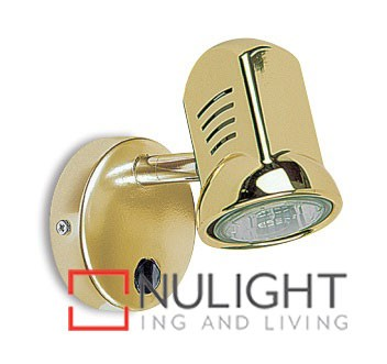 Spot Halogen Single Pan Switch Brass Gu ASU