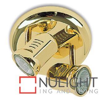 Spot Halogen Double Pan Brass Gu ASU