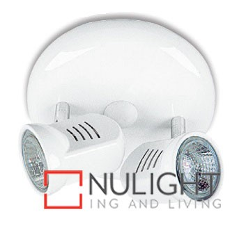 Spot Halogen Double Pan White Gu ASU