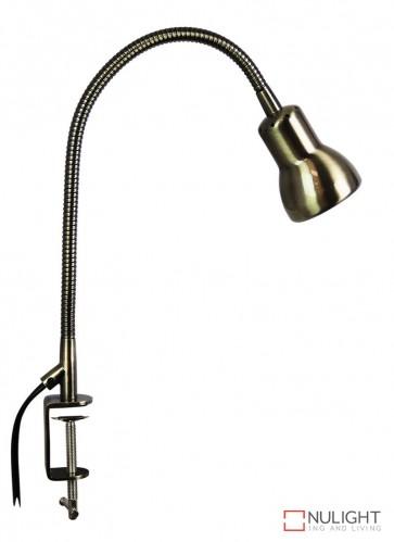 Scope Clamp Lamp Antique Brass ORI