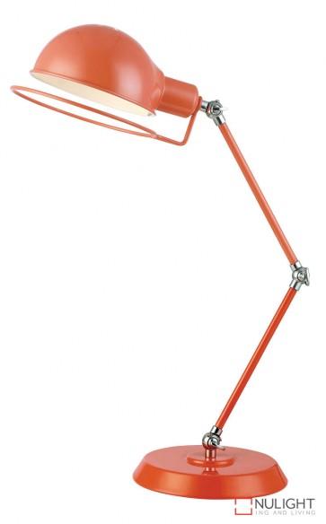 Jazz Desk Lamp Orange - Chrome ORI