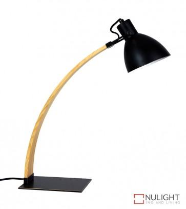 Perno Desk Lamp Black And Wood ORI