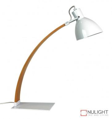 Perno Desk Lamp White And Wood ORI