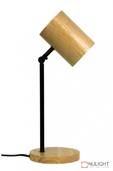 Chad Desk Lamp Black And Wood ORI