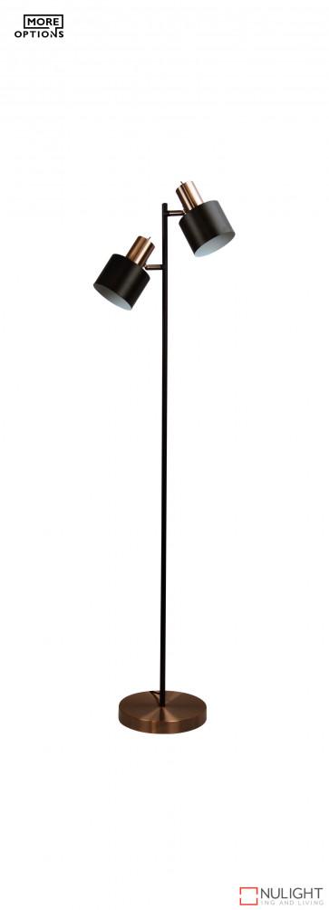 Black Ari Twin Floor Lamp Oriel Lamps ORI