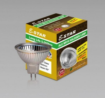 Alu MR16 Halogen Lamp with Open Front Glass Sunny Lighting