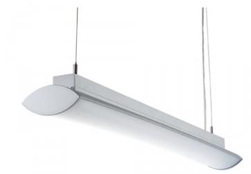 Brampton Electronic Ballast Pendant in Anodized Silver Sunny Lighting