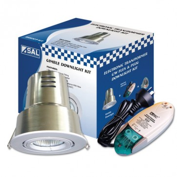 Downlight Recessed Lighting Kit Mini/P60 with Can and Plug S9003 cmP Sunny Lighting