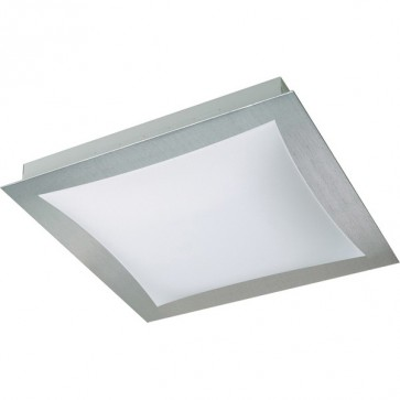Eden Flush Mount Ceiling Light in Satin Chrome Sunny Lighting