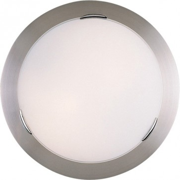 Flipper 33cm Flush Mount Ceiling Light in Satin Chrome Sunny Lighting
