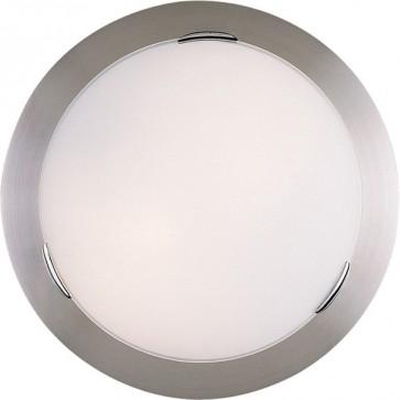 Flipper 44cm Flush Mount Ceiling Light in Satin Chrome Sunny Lighting