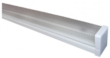 K12 Diffused Batten Two Lights Strip Light in Powder Coated Sunny Lighting