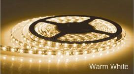 LED Strip Light in Warm White Sunny Lighting
