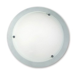 Lunar Oyster Wall / Ceiling Light in Chrome Sunny Lighting