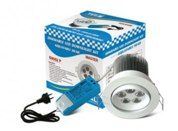 Master Dimmable Driver 5 x 3W LED Lamp with Flex and Plug in Warm White Sunny Lighting