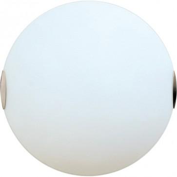Solar 30cm Flush Mount Ceiling Light in Satin Chrome Sunny Lighting
